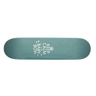 Keep Calm It's A Baby Boy Skateboard Deck