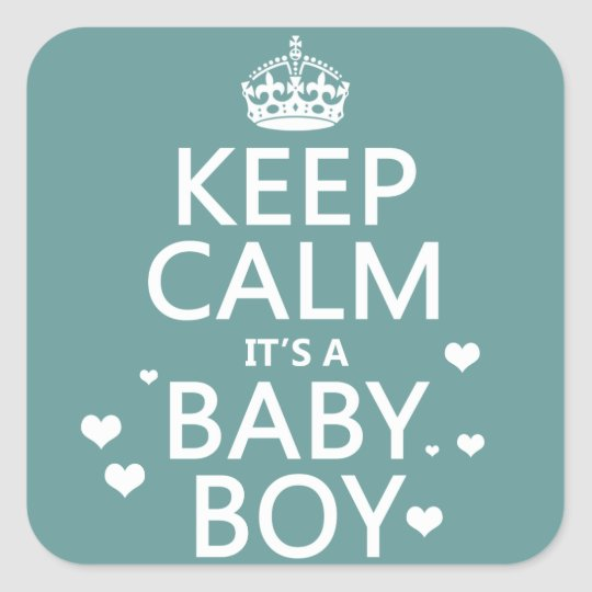 keep calm it s a baby boy square sticker zazzle com