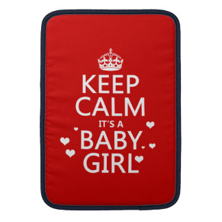 Keep Calm It's a Baby Girl Sleeve For MacBook Air