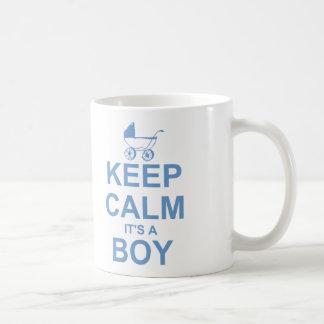 Keep Calm It's A Boy Coffee Mug