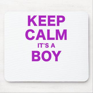Keep Calm Its a Boy Mouse Pad