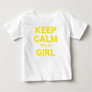 Keep Calm Its a Girl Baby T-Shirt