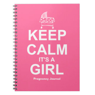 Keep Calm It's A Girl Notebook