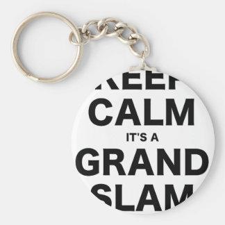 Keep Calm Its a Grand Slam Keychain