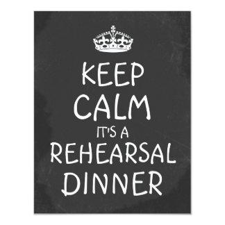 Keep Calm Its A Rehearsal Dinner ChalkboardWedding Card