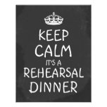 Keep Calm Its A Rehearsal Dinner ChalkboardWedding Personalized Invites