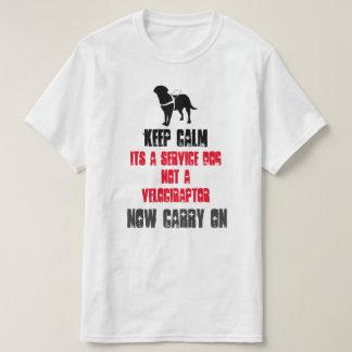 Keep Calm Its A Service Dog T-Shirt