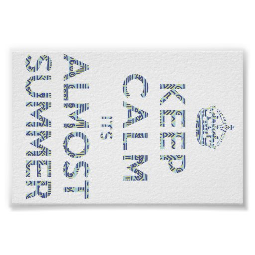 Keep Calm Its Almost Summer Poster  Zazzle