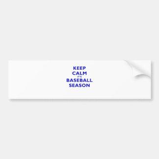 Keep Calm Its Baseball Season Bumper Sticker