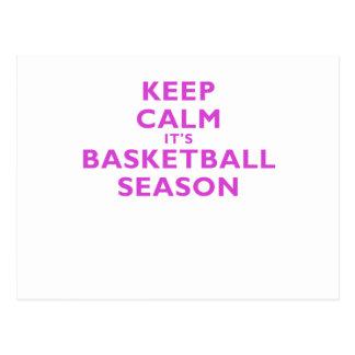 Keep Calm its Basketball Season Postcard