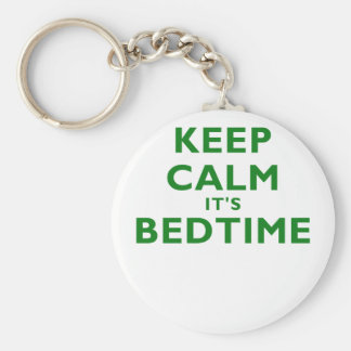 Keep Calm Its Bedtime Keychains