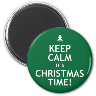 Keep Calm It's Christmas Time Magnet