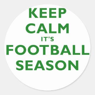 Keep Calm Its Football Season Sticker