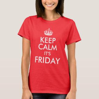 Keep Calm it's Friday Cute Saying T-Shirt