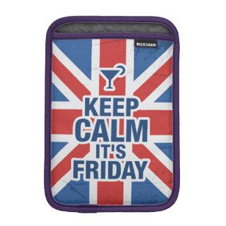 """""""Keep Calm it's Friday"""" Funny iPad Mini Sleeve"""