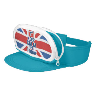 """Keep Calm it's Friday"" Funny relax chill british Visor"