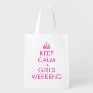 Keep calm it's girls weekend reusable shopping bag