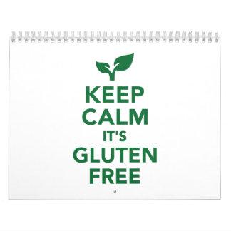 Keep calm it's gluten free calendar