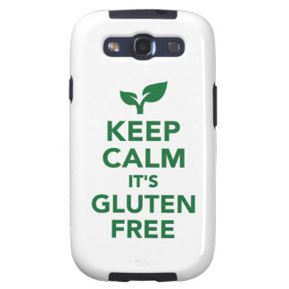 Keep calm it's gluten free samsung galaxy SIII case