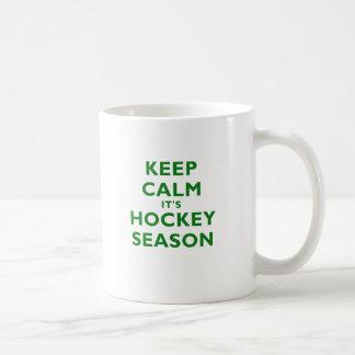 Keep Calm Its Hockey Season Coffee Mug