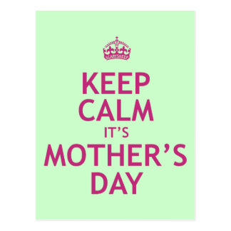 Keep Calm it's Mother's Day Postcard