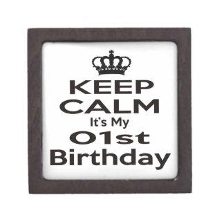 Keep Calm It's My 1st Birthday Premium Jewelry Box