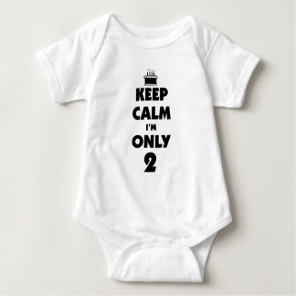 Keep calm it's my birthday baby bodysuit