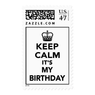 Keep calm it's my Birthday Stamp