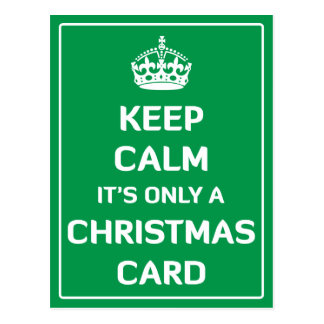 Keep Calm It's Only A Christmas Card