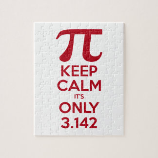 Keep Calm It's Only Pi Jigsaw Puzzle