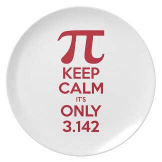 Keep Calm It's Only Pi Plates
