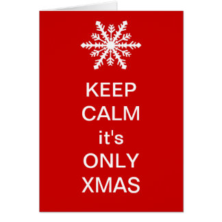 Keep Calm it's Only Xmas Card