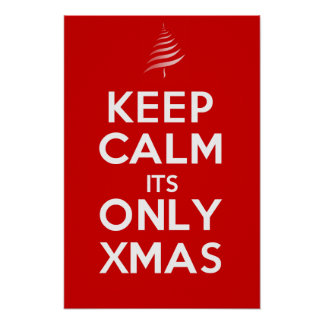 KEEP CALM its ONLY XMAS Poster