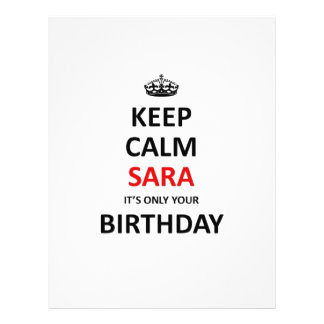 Keep calm it's only your birthday letterhead