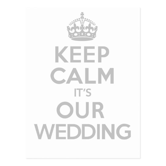 KEEP CALM its OUR WEDDING Postcard