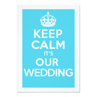 KEEP CALM it's OUR WEDDING (Turquoise) Card