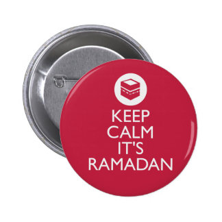 keep calm its ramadan pinback button