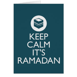 keep calm its ramadan greeting cards