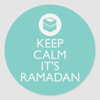 keep calm its ramadan-turquoise sticker
