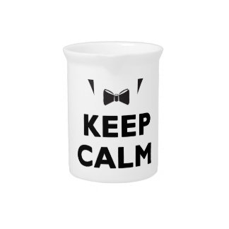 Keep calm it's scare time beverage pitcher