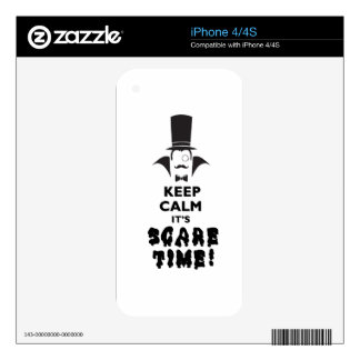 Keep calm it's scare time decal for iPhone 4