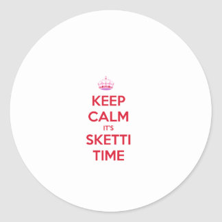 Keep Calm it's Sketti Time Classic Round Sticker