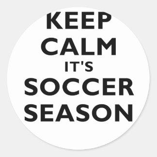 Keep Calm Its Soccer Season Sticker