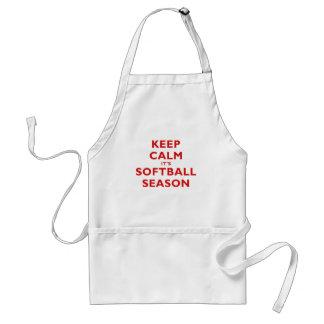 Keep Calm its Softball Season Adult Apron