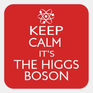 Keep Calm Its the Higgs Boson Square Sticker