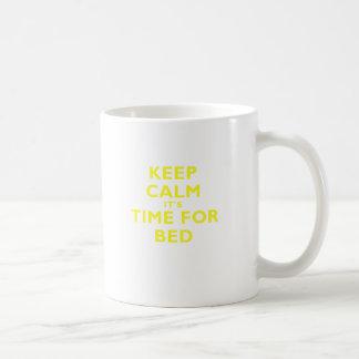 Keep Calm its Time for Bed Coffee Mug