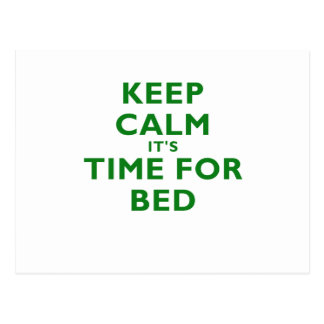 Keep Calm its Time for Bed Postcard