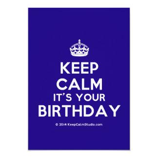 Keep Calm It's Your Birthday Custom Invites