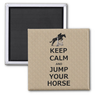 Keep Calm & Jump Your Horse 2 Inch Square Magnet