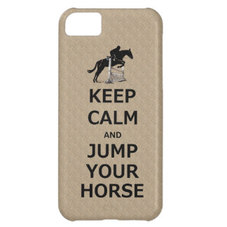 Keep Calm & Jump Your Horse Case For iPhone 5C